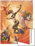 Spider-Island: The Amazing Spider-Girl No.3 Cover: Spider-Girl Fighting and Jumping Wood Print by Ale Garza