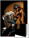 Ultimate Spider-Man No.84 Cover: Spider-Man, Black Cat and Elektra Prints by Mark Bagley