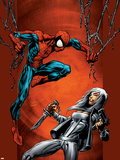 Ultimate Spider-Man No.88 Cover: Spider-Man and Silver Sable Plastic Sign by Mark Bagley