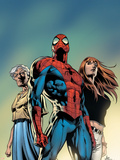 Amazing Spider-Man No.519 Cover: Spider-Man, May Parker, and Mary Jane Watson Plastikskilte af Mike Deodato