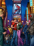 Ultimate Spider-Man Annual No.3 Cover: Spider-Man, Peter Parker, and Mary Jane Watson Plastic Sign by Mark Brooks