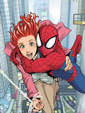 Spider-Man Loves Mary Jane No.1 Cover: Spider-Man, and Mary Jane Watson Plastic Sign by Takeshi Miyazawa