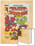 Marvel Tails: Spider-Ham No.1 Cover: Spider-Ham, Captain Americat and Hulkbunny Flying Wood Print by Mark Armstrong
