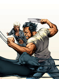 Ultimate X-Men No.67 Cover: Wolverine and Storm Plastic Sign by Tom Raney