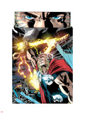 Thor: First Thunder No.5: Thor with Mjolnir and Lightning Wall Decal by Tan Eng Huat