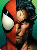 Ultimate Spider-Man No.67 Cover: Spider-Man and Wolverine Plastic Sign by Mark Bagley