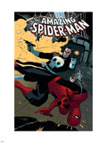 The Amazing Spider-Man No.577 Cover: Spider-Man and Punisher Wall Decal by Paolo Rivera