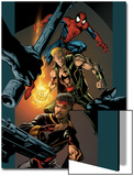 Ultimate Spider-Man No.85 Cover: Spider-Man, Shang-Chi and Iron Fist Prints by Mark Bagley