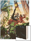 Spider-Island: The Amazing Spider-Girl No.3: Spider-Girl Fighting and Kicking Wood Print by Pepe Larraz