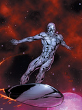 Silver Surfer No.7 Cover: Silver Surfer Plastic Sign by Gary Frank