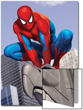 Spider-Man In the City on Gargoyle Prints