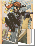 Spider-Island: The Amazing Spider-Girl No.3: Spider-Girl Swinging Wood Print by Pepe Larraz