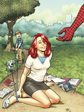 Spider-Man Loves Mary Jane Season 2 No.2 Cover Plastic Sign by Adrian Alphona