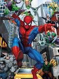 Spider-Man, Doctor Octopus, Green Goblin, Vulture, Black Cat, Electro, Lizard, Rhino and Sandman Wall Decal
