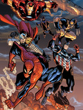 The Amazing Spider-Man No.648: Spider-Man, Captain America, Thor, Iron Man, Wolverine, and Hawkeye Plastic Sign by Humberto Ramos