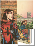 Amazing Spider-Girl No.26 Cover: Spider-Girl Wood Print by Ron Frenz