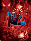 Spider-Man, Scorpion, Prowler, Vulture, Electro and Green Goblin in the City Wall Decal