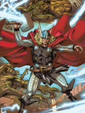 Thor: Heaven and Earth No.3: Thor Smashing with Mjolnir Plastic Sign by Pascal Alixe