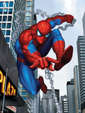 Spider-Man In the City Plastic Sign