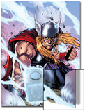 Thor: Heaven and Earth No.3 Cover: Thor Smashing with Mjonir Prints by Agustin Padilla