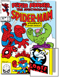 Marvel Tails: Spider-Ham No.1 Cover: Spider-Ham, Captain Americat and Hulkbunny Flying Prints by Mark Armstrong