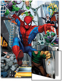 Spider-Man, Doctor Octopus, Green Goblin, Vulture, Black Cat, Electro, Lizard, Rhino and Sandman Prints