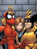 Marvel Adventures Spider-Man No.7 Cover: Spider-Man, Wolverine, and Shadowcat Standing Plastic Sign by Patrick Scherberger