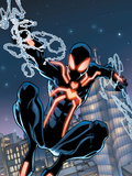 The Amazing Spider-Man No.650 Cover: Spider-Man Swinging Plastic Sign by Humberto Ramos