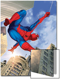 Spider-Man Swinging In the City Art