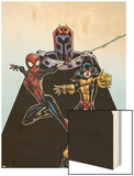 Spider-Girl No.92 Cover: Spider-Girl, Shadowcat and Magneto Wood Print by Ron Frenz