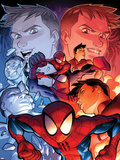 Ultimate Spider-Man No.14 Cover: Spider-Man Posing Wall Decal by David LaFuente