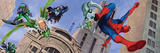 Spider-Man, Doctor Octopus, Green Goblin, Lizard, Electro and Morbius in the City Wall Decal