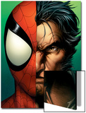 Ultimate Spider-Man No.67 Cover: Spider-Man and Wolverine Print by Mark Bagley