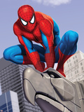 Spider-Man In the City on Gargoyle Plastic Sign