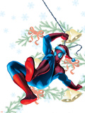 Marvel Holiday Special 1 Cover: Spider-Man Plastic Sign