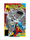 Amazing Spider-Man No.328 Cover: Hulk and Spider-Man Crouching Wall Decal by Todd McFarlane