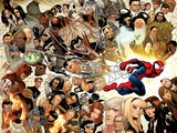 Ultimate Spider-Man No.150 Cover: Spider-Man Swinging Wall Decal by David LaFuente
