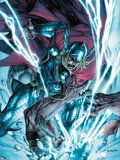 Thor: The Deviants Saga No.3 Cover: Thor Fighting and Smashing Plastic Sign by Stephen Segovia