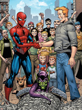 Marvel Adventures Spider-Man No.34 Group: Spider-Man, Green Goblin, Flash Thompson Plastic Sign by Cory Hamscher