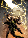 Loki No.1 Cover: Loki Standing Wall Decal by Sebastian Fiumara