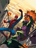 Marvel Age Spider-Man No.16 Cover: Spider-Man and Green Goblin Plastic Sign by Roger Cruz