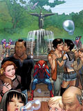 Ultimate Spider-Man No.15 Cover: Spider-Man Sitting Plastic Sign by David LaFuente