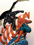 Marvel Knights Spider-Man No.18 Cover: Justice, Spider-Man, and Ethan Edwards Plastic Sign by Steve MCNiven