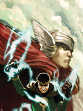 Journey Into Mystery No.622 Cover: Thor and Loki Plastic Sign by Stephanie Hans