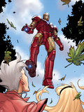Ultimate Spider-Man No.151: Iron Man Flying Plastic Sign by Sara Pichelli