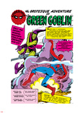 Spider-Man: Panel with Spider-Man's First Battle with Green Goblin Plastic Sign