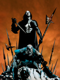 X-Men: Apocalypse Vs. Dracula No.1 Cover: Apocalypse and Dracula Plastic Sign by Clayton Henry