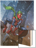 Marvel Adventures Spider-Man No.46 Cover: Spider-Man Wood Print by Francis Tsai
