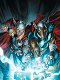 Secret Invasion: Thor No.3 Cover: Thor and Beta-Ray Bill Wall Decal by Doug Braithwaite