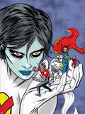 X-Statix Presents: Dead Girl No.2 Cover: Dr. Strange, Dead Girl and Phantom Rider Fighting Plastic Sign by Nick Dragotta